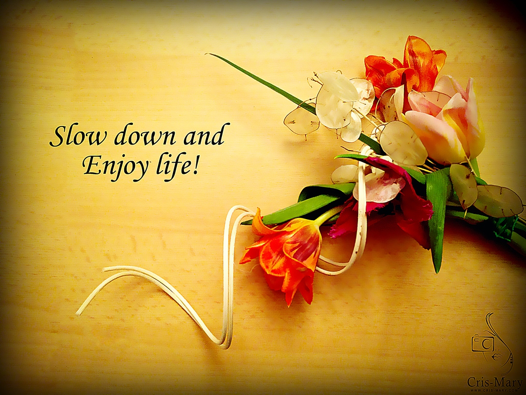 Slow down and enjoy life - Copy
